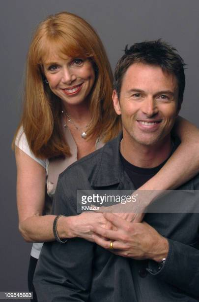 Amy Van Nostrand and Tim Daly during 3rd Annual Tribeca Film Festival 'Bereft' Portrait Session at Turning Leaf Portrait Studio in New York City New...