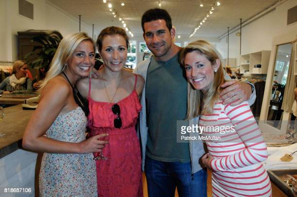 Amy Vanderveer Amanda Armstrong Adam Doneger and Ashley Knowlton attend What2WearWherecom Plus Calypso ST Barth Summer shopping soiree at Calypso St...