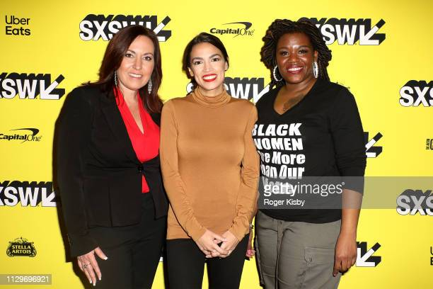Amy Vilela Congresswoman Alexandria OcasioCortez and Cori Bush attend the SXSW premiere of the Netflix Original Documentary 'Knock Down the House' at...