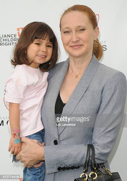 Amy Wakeland and daughter Maya attend Alliance Of Moms Giant Playdate on May 9 2015 in Los Angeles California