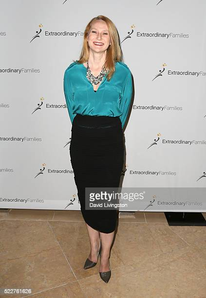 Amy Wakeland arrives at the Extraordinary Families Gala at The Beverly Hilton Hotel on April 20 2016 in Beverly Hills California