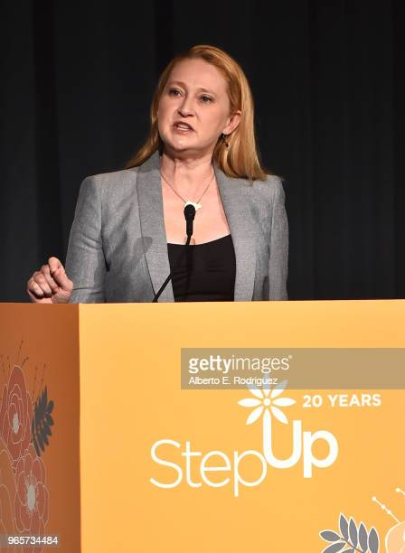 Amy Wakeland on stage at Step Up's 14th Annual Inspiration Awards at the Beverly Wilshire Four Seasons Hotel on June 1 2018 in Beverly Hills...