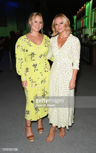 """Amy Walsh and Kimberley Walsh attend the press night performance of """"Sleepless: The Musical"""" at the Troubadour Wembley Park Theatre on September 01,..."""