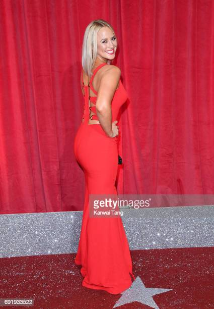 Amy Walsh attends the British Soap Awards at The Lowry Theatre on June 3 2017 in Manchester England