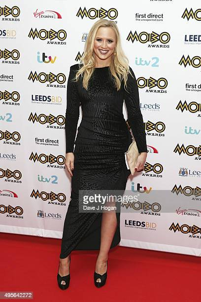 Amy Walsh attends the MOBO Awards at First Direct Arena on November 4 2015 in Leeds England