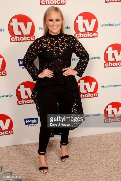 Amy Walsh attends the TV Choice Awards at The Dorchester on September 10 2018 in London England
