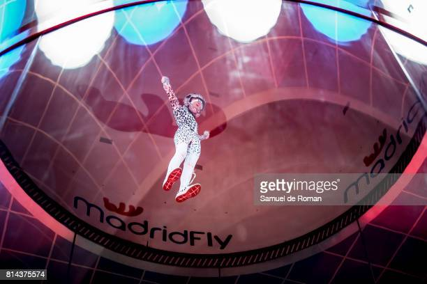 Amy Watson during indoor sky diving Exhibition in Madrid on July 14 2017 in Madrid Spain
