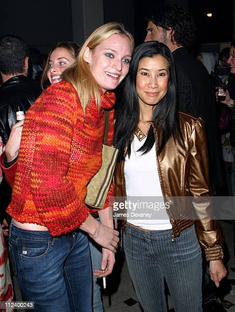 Amy Wesson and Lisa Ling during Miss Sixty Store Opening AfterParty at Tribeca in New York City New York United States