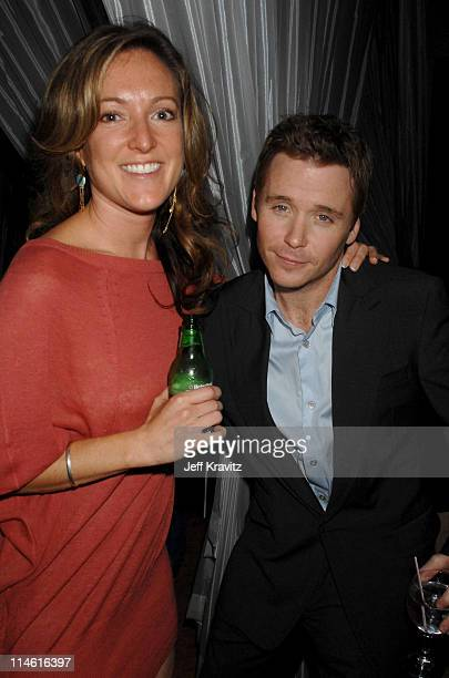 """Amy Westcott and Kevin Connolly during """"Entourage"""" Third Season Premiere in Los Angeles - After Party in Los Angeles, California, United States."""