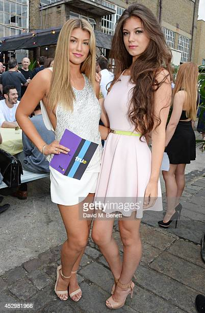 Amy Willerton and sister Erin Willerton attend the star studded VIP launch party for truTV a brand new larger than life TV channel launching on 4th...