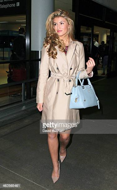 Amy Willerton arrives at Los Angeles International Airport on January 13 2014 in Los Angeles California