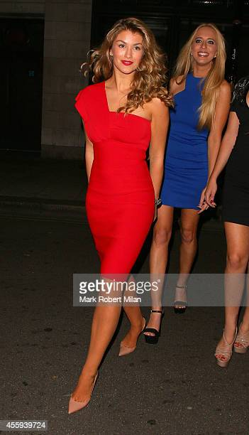 Amy Willerton attending the Reality TV awards on September 22 2014 in London England