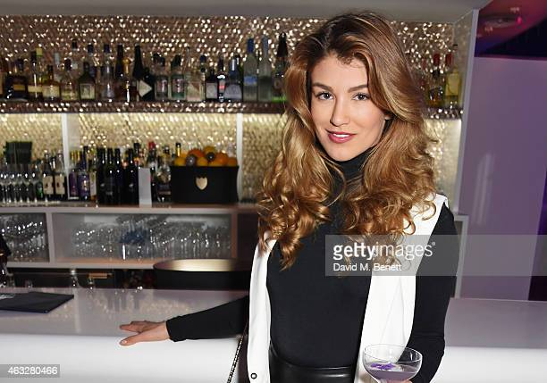 Amy Willerton attends a cocktail party hosted by haircare brand John Frieda to celebrate the launch of their 2015 products at Oxo Tower Wharf on...