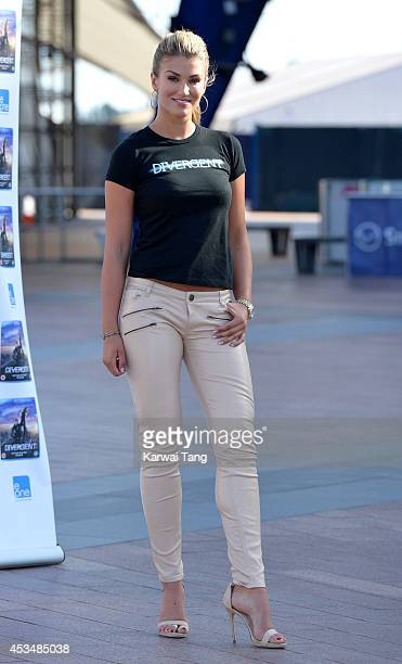 Amy Willerton attends a photocall to launch the DVD of 'Divergent' at 02 Arena on August 11 2014 in London England