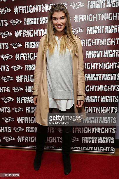Amy Willerton attends the launch of Thorpe Park's Fright Nights at Thorpe Park on October 6 2016 in Chertsey England