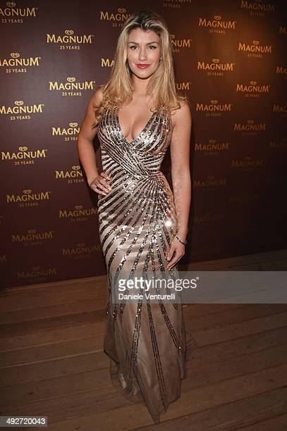 Amy Willerton attends the Magnum 25th Anniversary party during the 67th Annual Cannes Film Festival on May 21 2014 in Cannes France
