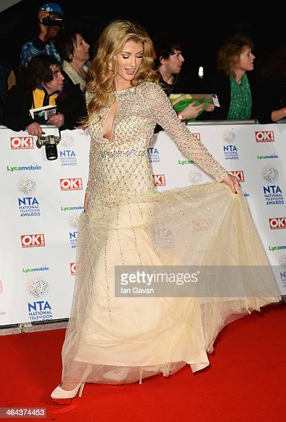 Amy Willerton attends the National Television Awards at 02 Arena on January 22 2014 in London England