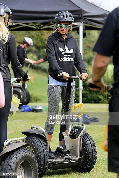 Amy Willerton attends the PopUp Fitness Retreat By Olivia Cooney at Ston Easton Park on August 9 2015 in London England
