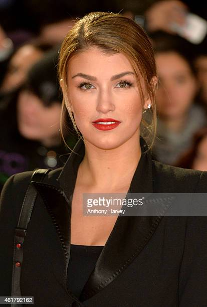 Amy Willerton attends the UK Premiere of 'Mortdecai' at Empire Leicester Square on January 19 2015 in London England
