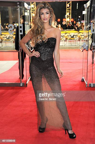 Amy Willerton attends the UK Premiere of 'The Wolf Of Wall Street' at Odeon Leicester Square on January 9 2014 in London England