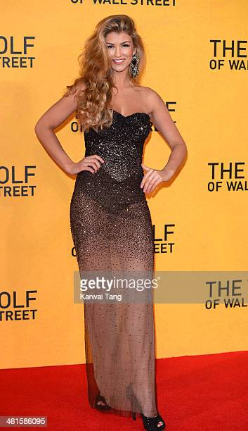 Amy Willerton attends the UK Premiere of 'The Wolf Of Wall Street' at the Odeon Leicester Square on January 9 2014 in London England