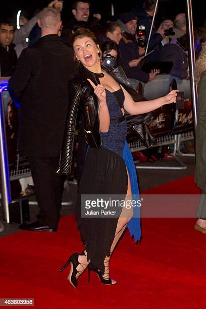 Amy Willerton attends the World Premiere of 'The Gunman' at BFI Southbank on February 16 2015 in London England