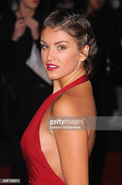 Amy Willerton attends the World Premiere of 'The Hunger Games Mockingjay Part 1' at Odeon Leicester Square on November 10 2014 in London England