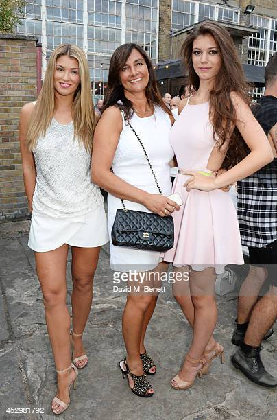 Amy Willerton mother Sarah Willerton and sister Erin Willerton attend the star studded VIP launch party for truTV a brand new larger than life TV...