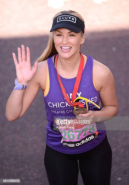 Amy Willerton takes part in the 2014 London Marathon on April 13 2014 in London England
