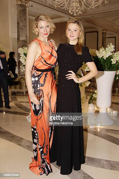 Amy Williams and Amber Atherton arrive at the launch of the Four Seasons Hotel Baku on November 17 2012 in Baku Azerbaijan