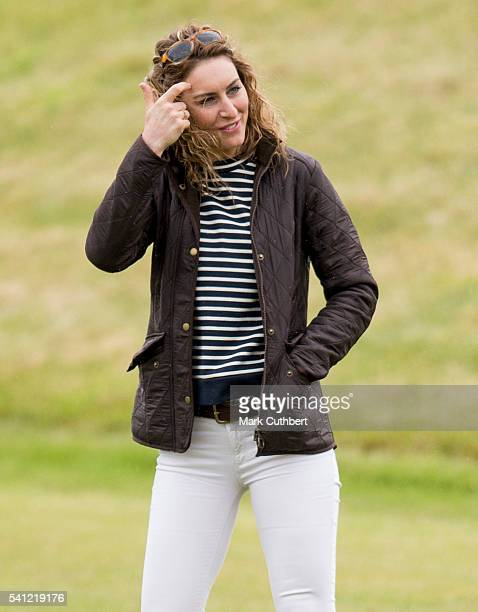 Amy Williams during the Gloucestershire Festival of Polo at Beaufort Polo Club on June 19 2016 in Tetbury England