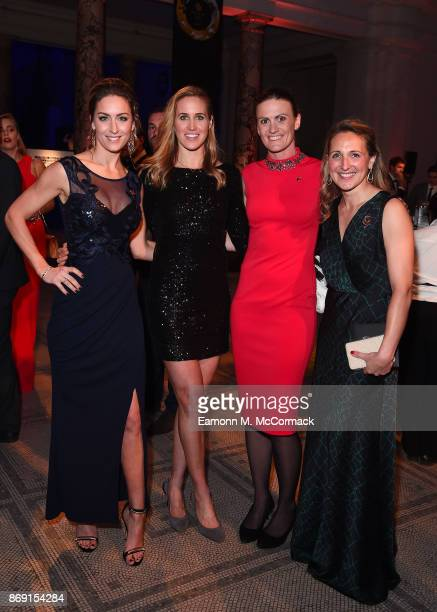 Amy Williams Helen Glover Heather Stanning and guest attend the Team GB Ball at Victoria and Albert Museum on November 1 2017 in London England