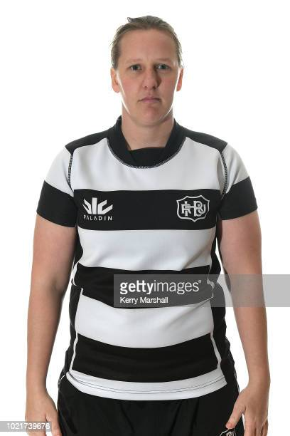 Amy Williams poses during a Hawke's Bay Women's Farah Palmer Cup Rugby headshot session on August 23 2018 in Napier New Zealand