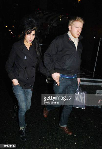 Amy Winehouse and Alex JonesDonnelly during Amy Winehouse Sighting at the Astoria February 19 2007 in London Great Britain