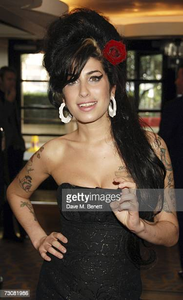Amy Winehouse arrives at the South Bank Show Awards at The Savoy Hotel on January 23 2007 in London England