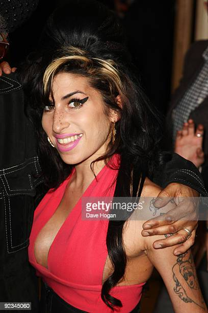 Amy Winehouse attends the 2009 Q Awards held at the Grosvenor House Hotel on October 26 2009 in London England