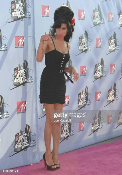 Amy Winehouse during 2007 MTV Movie Awards Arrivals at Gibson Amphitheater in Los Angeles California United States