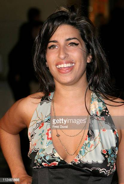 Amy Winehouse during The 25th Brit Awards Arrivals at Earls Court 2 in London Great Britain