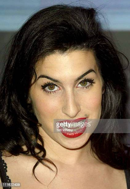 Amy Winehouse during The Brit Awards 2004 Nominations Arrivals at Park Lane Hotel in London United Kingdom