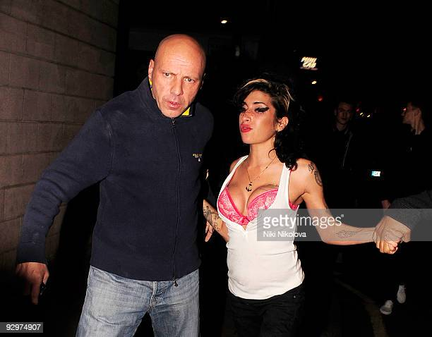 Amy Winehouse enjoying a night out in Candem on November 10 2009 in London England