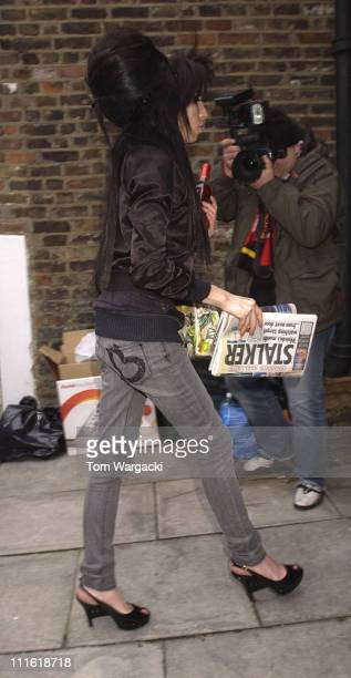 Amy Winehouse is seen on March 17 2008 in London England