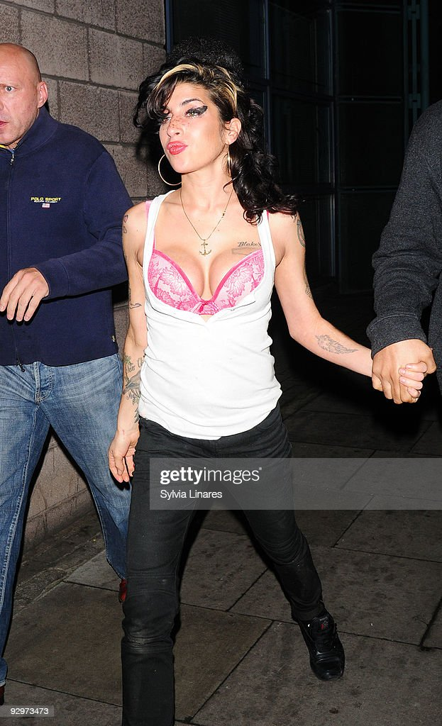 Amy Winehouse leaving The Hawley Arms Pub on November 10, 2009 in London, England.