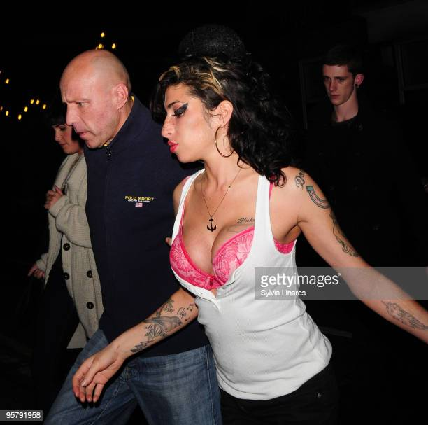 Amy Winehouse leaving The Hawley Arms Pub on November 10 2009 in London England