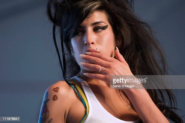 Amy Winehouse live at the Coachella Festival Indio California April 2007