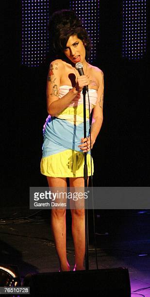 Amy Winehouse performs at the annual Nationwide Mercury Prize music awards ceremony at The Grosvenor House Hotel September 4 2007 in London England