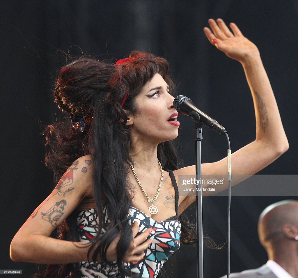 Amy Winehouse Performs On Day Two Of The V Festival At