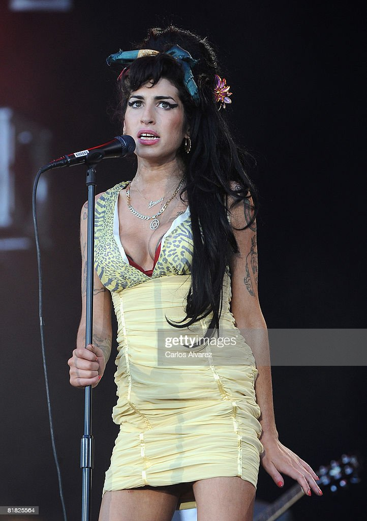 Amy Winehouse Performs On Stage During Rock In Rio Day 3 On July 04