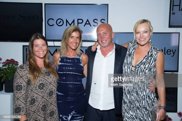 Amy Worthington Gina Bradley Stephane DuPoux and Hellen Gifford attend Hamptons Magazine's 40th Anniversary Bash by Lawrence Scott Events presented...