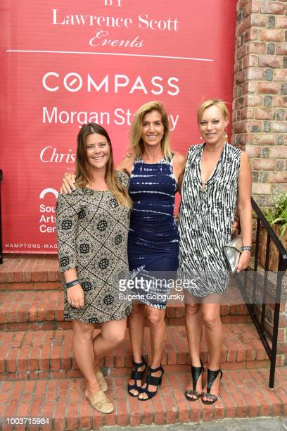 Amy Worthington Gina Bradly and Helen Gifford attend the Hamptons Magazine 40th Anniversary Bash By Lawrence Scott Events Presented By Compass at...