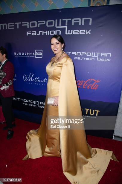 Amy Yamada attends Metropolitan Fashion Week's Closing Gala And Fashion Awards at Los Angeles City Hall on October 6 2018 in Los Angeles California